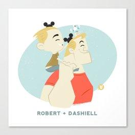 Disney Dads: Robert + Dashiell Canvas Print