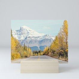Autumn Mountain Road - Fall Landscape, Nature Photography Mini Art Print