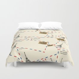Paris Envelopes Duvet Cover