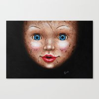 doll Canvas Prints featuring Doll by Nika Akin