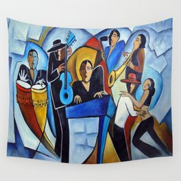 Blue Salsa Wall Tapestry