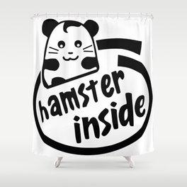 hamster inside Shower Curtain