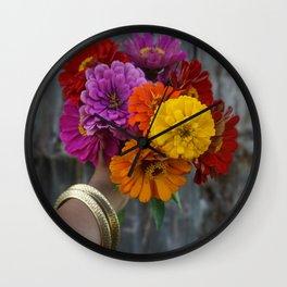 Colour in a dark world. Wall Clock