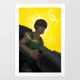 Who is My Enemy? - Gundam Wing Print Art Print