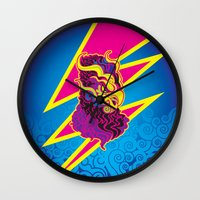 storm Wall Clocks featuring Storm by HanYong