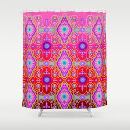 exotic happiness medallions Shower Curtain