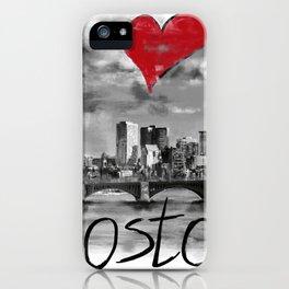 I love Boston iPhone Case