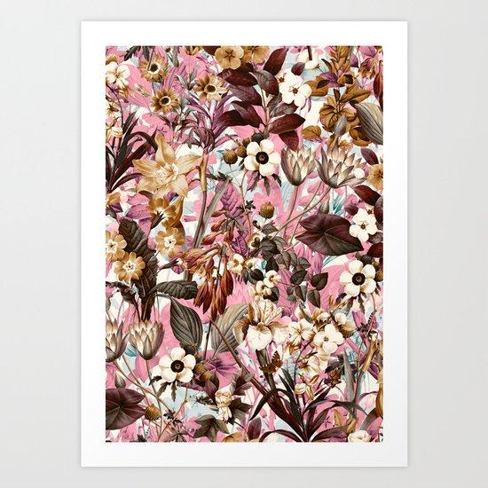 Natural Summer Pattern Art Print