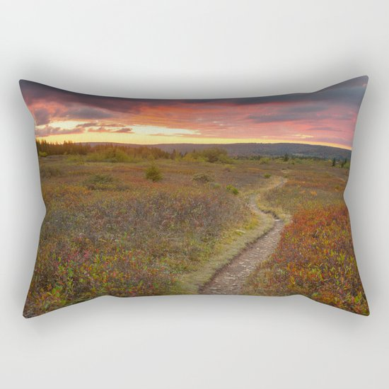 Dolly Sods Twilight Trail Rectangular Pillow