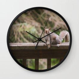 Spring Squirrel Wall Clock