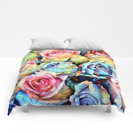 For Love of Roses Comforters