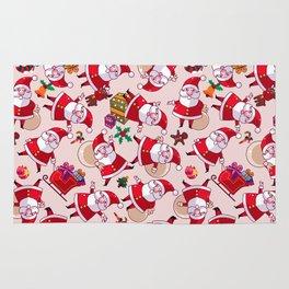 Santa Gift Pattern Rug