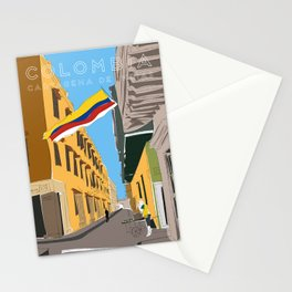 Cartagena de Indias, Colombia Travel Poster Stationery Cards