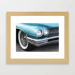 Vintage Car Photography | Turquoise Bedroom Art Framed Art Print