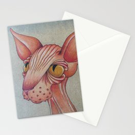 Right-Side Up Sphynx Stationery Cards