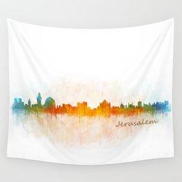 Jerusalem City Skyline Hq v3 Wall Tapestry