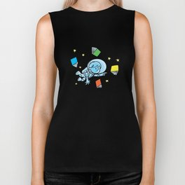 little astronaut and books Biker Tank