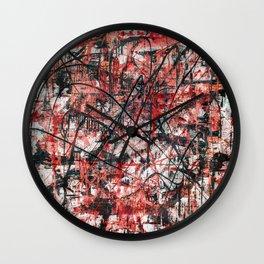 Imogene in Red Wall Clock