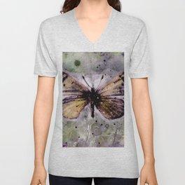 Butterfly Prayers No. 1C by Kathy Morton Stanion Unisex V-Neck