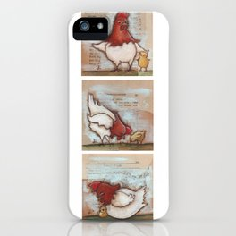 You Are So Loved Chickens - by Diane Duda iPhone Case