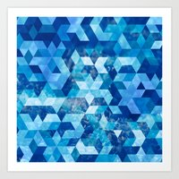 Cold Snowflake Art Print