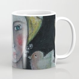 Lady with Flying Thoughts Coffee Mug