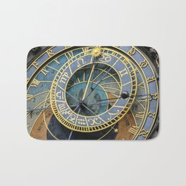 Prague Astronomic Clock Bath Mat