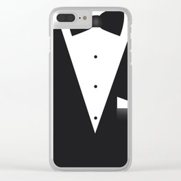 Bow Tie Suit Clear iPhone Case