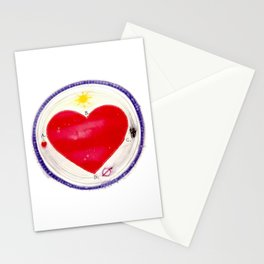 heart abcd Stationery Cards