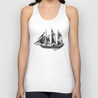 ship Tank Tops featuring Ship by LeahOwen