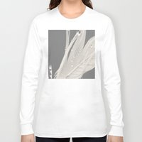 feather Long Sleeve T-shirts featuring Feather by Dora Birgis