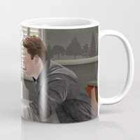 captain hook Mugs featuring Captain Charming by Christine Ring