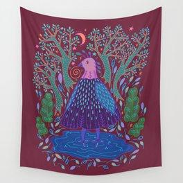 Bird Bath Wall Tapestry