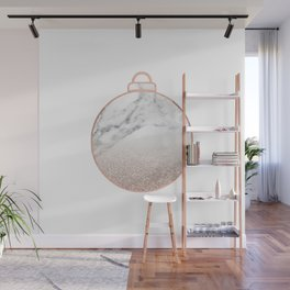 Rose gold Christmas bauble II Wall Mural