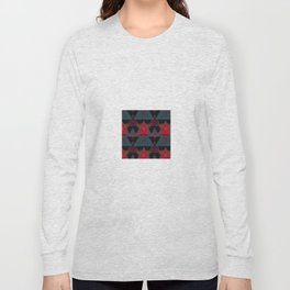 Triangle Abstract Pattern Long Sleeve T-shirt