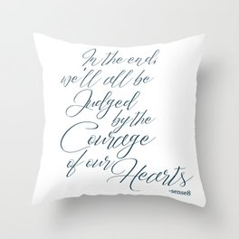 Courage of the Heart B&W Throw Pillow