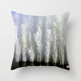 When Sandy Made Waves in Chicago #2 (Chicago Waves Collection) Throw Pillow