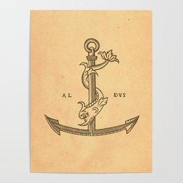Aldus Manutius Printer Mark Poster