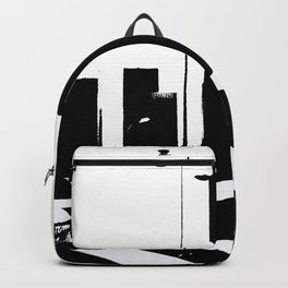 City Scape in Black and White Backpack