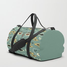 Native pattern with birds Duffle Bag