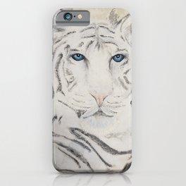 Original Art - White Tiger Original Painting (highly textured)  #white iPhone Case