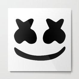 Marshmello face Metal Print