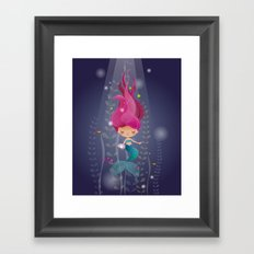 Mermaid with a pearl Framed Art Print