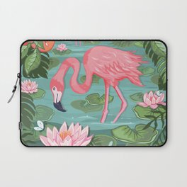 Flamingo and Waterlily Laptop Sleeve