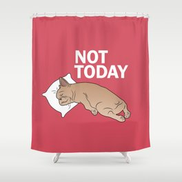 Lazy Frenchie Shower Curtain