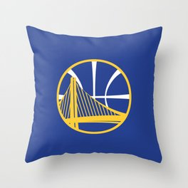 Warriors Logo Throw Pillow