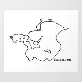 Cass Lake, MN Art Print