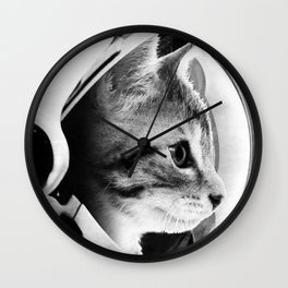 Astronaut Cat #3 Wall Clock