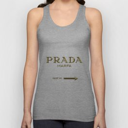 Golden PradaMarfa sign Unisex Tank Top