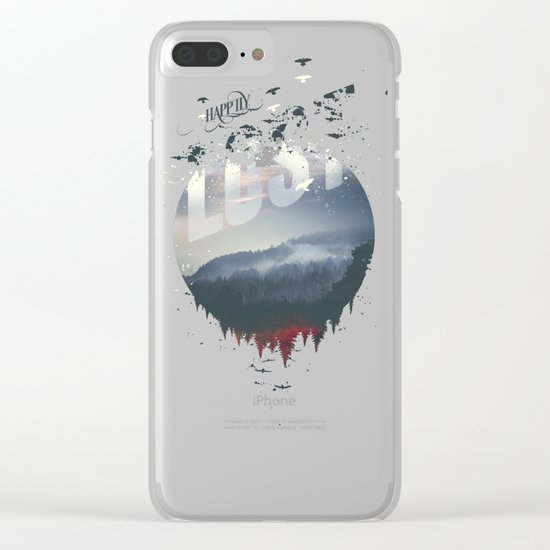Happily lost Clear iPhone Case